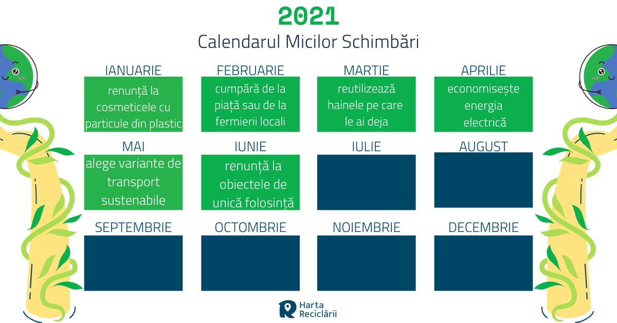 Calendarul micilor schimbari - iunie